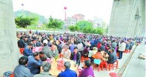 广州江夏龙氏宗亲聚首 席开650桌长达350米