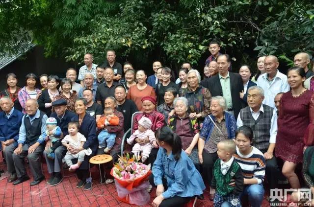 六世同堂为118岁老人庆生,传长寿秘诀!